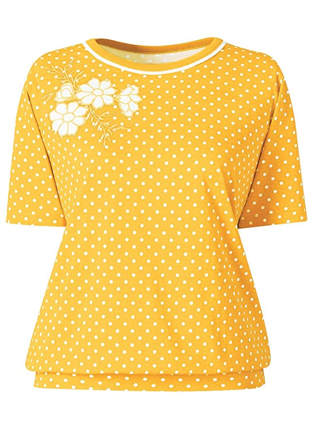 Vintage & Retro Shirts, Halter Tops, Blouses Banded Bottom Polka Dot Top  AT vintagedancer.com