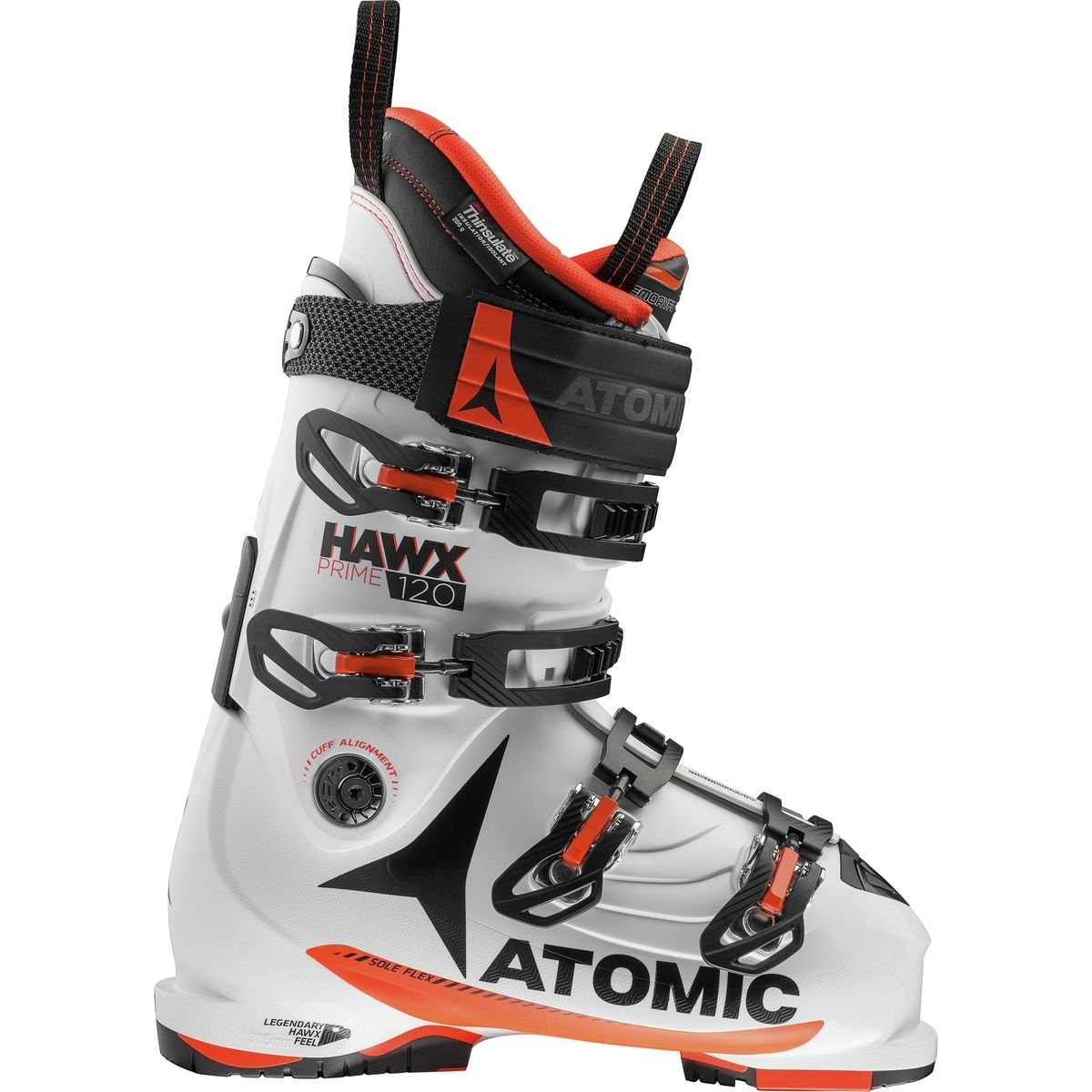 Atomic Hawx Prime 120 Ski Boot White/Orange, 26.5 by Atomic