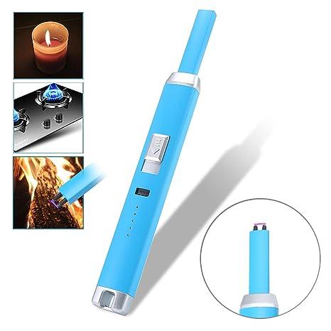 Pawaca Mechero de arco portátil, electrónico USB recargable, encendedor electrónico resistente al viento para