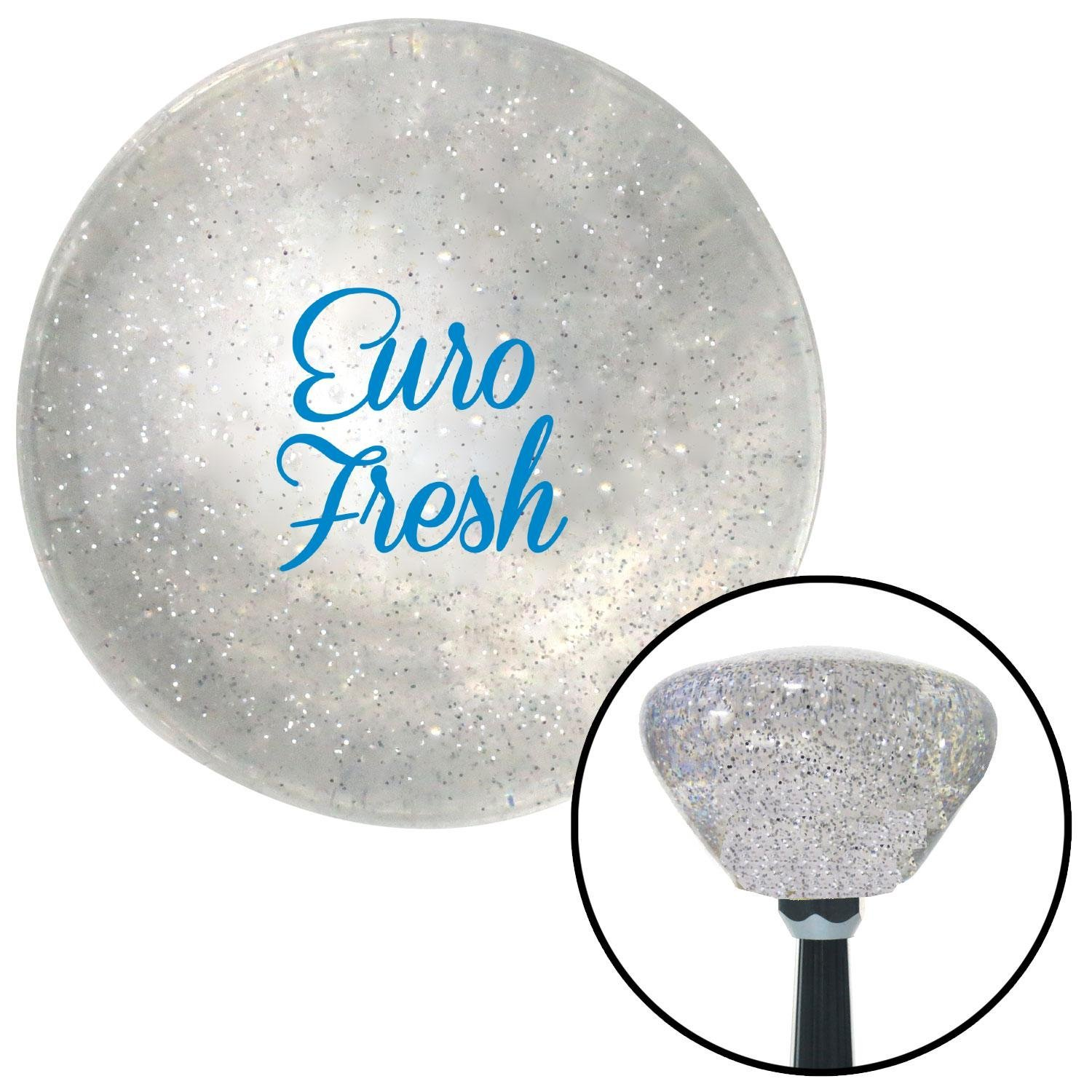 American Shifter 286637 Shift Knob Blue Euro Fresh Clear Retro Metal Flake with M16 x 1.5 Insert