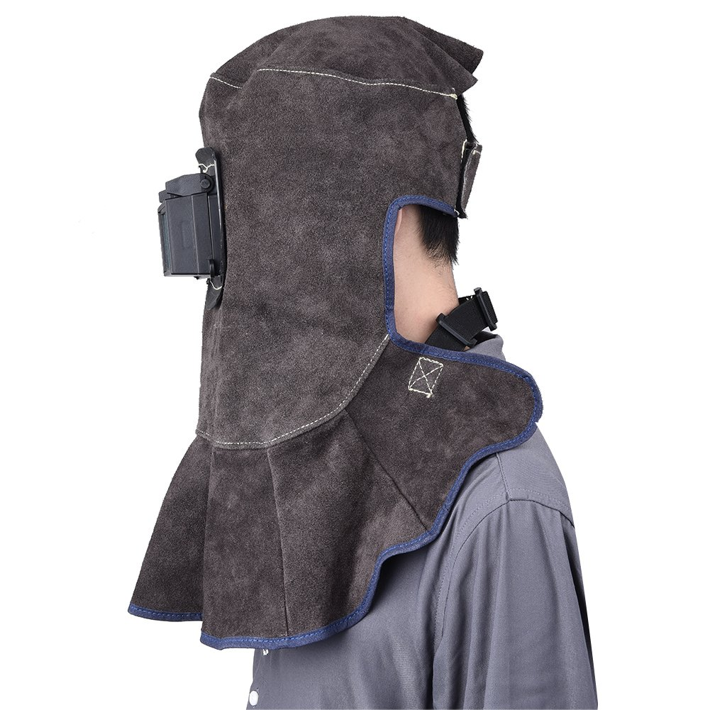 TOOLTOO Leather Welding Hood - 3 in 1 Welding Helmet Face Mask by TOOLTOO (Image #4)
