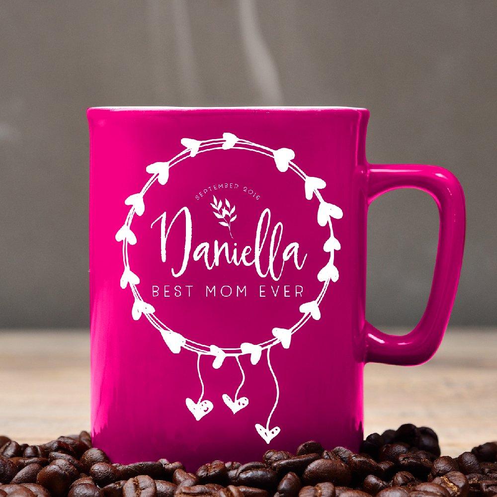 Amazon.com   Personalized Coffee Mug - Free Laser Engraving - Pink ...