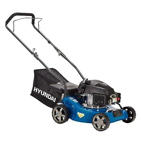 HYUNDAI Benzin-Rasenmäher LM4001G (Schnittbreite 40cm, kraftvoller HYUNDAI Motor mit 1.6kW (2.17PS), 35L Fangkorb, Benzinmähe