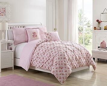 Amazon caroline pink floral comforter set twintwin xl home caroline pink floral comforter set twintwin xl mightylinksfo
