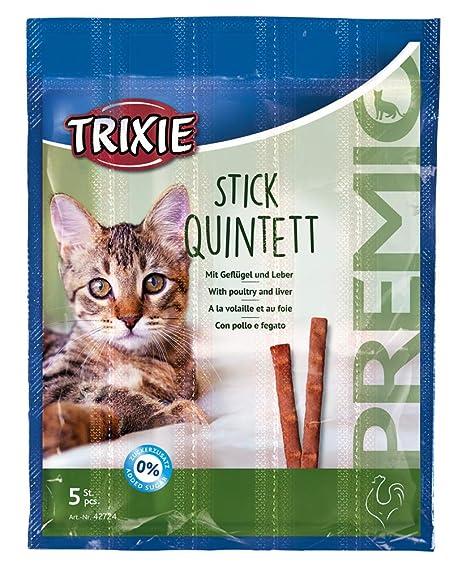 TRIXIE Premio Quadro-Sticks Snack Corral/hígado para Gatos 4 ...