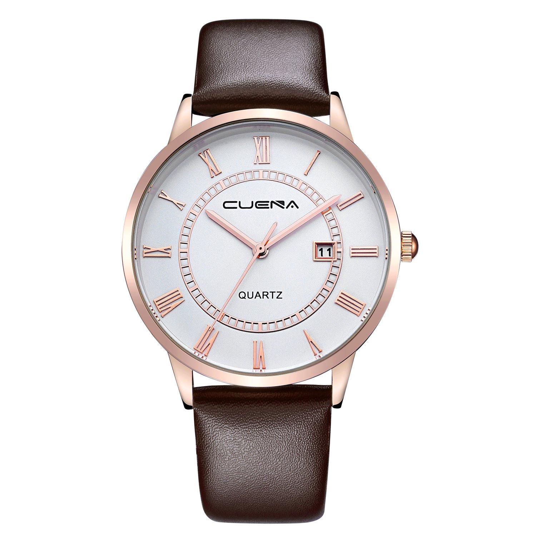 Yunanwa Mens Casual Classic Business Checkers Quartz Analog Wrist Watch Men s Band Sport Water Resistant
