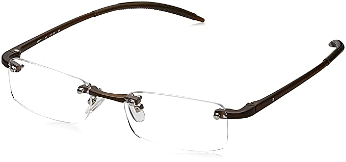 038cfead5b Image Unavailable. Image not available for. Colour  Titan Rimless  Rectangular Men s Spectacle Frame ...