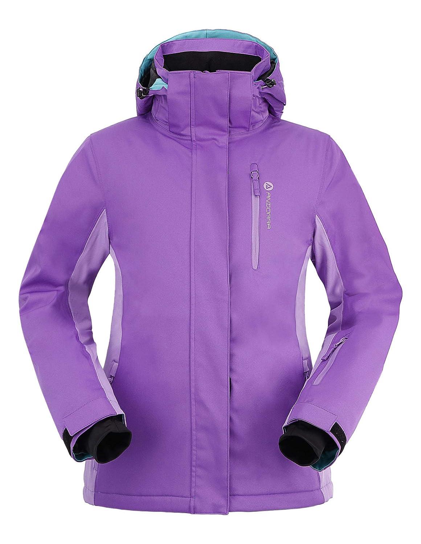 Andorra Damen Performance Isolierte Ski Jacke mit Abzipbarer Kapuze