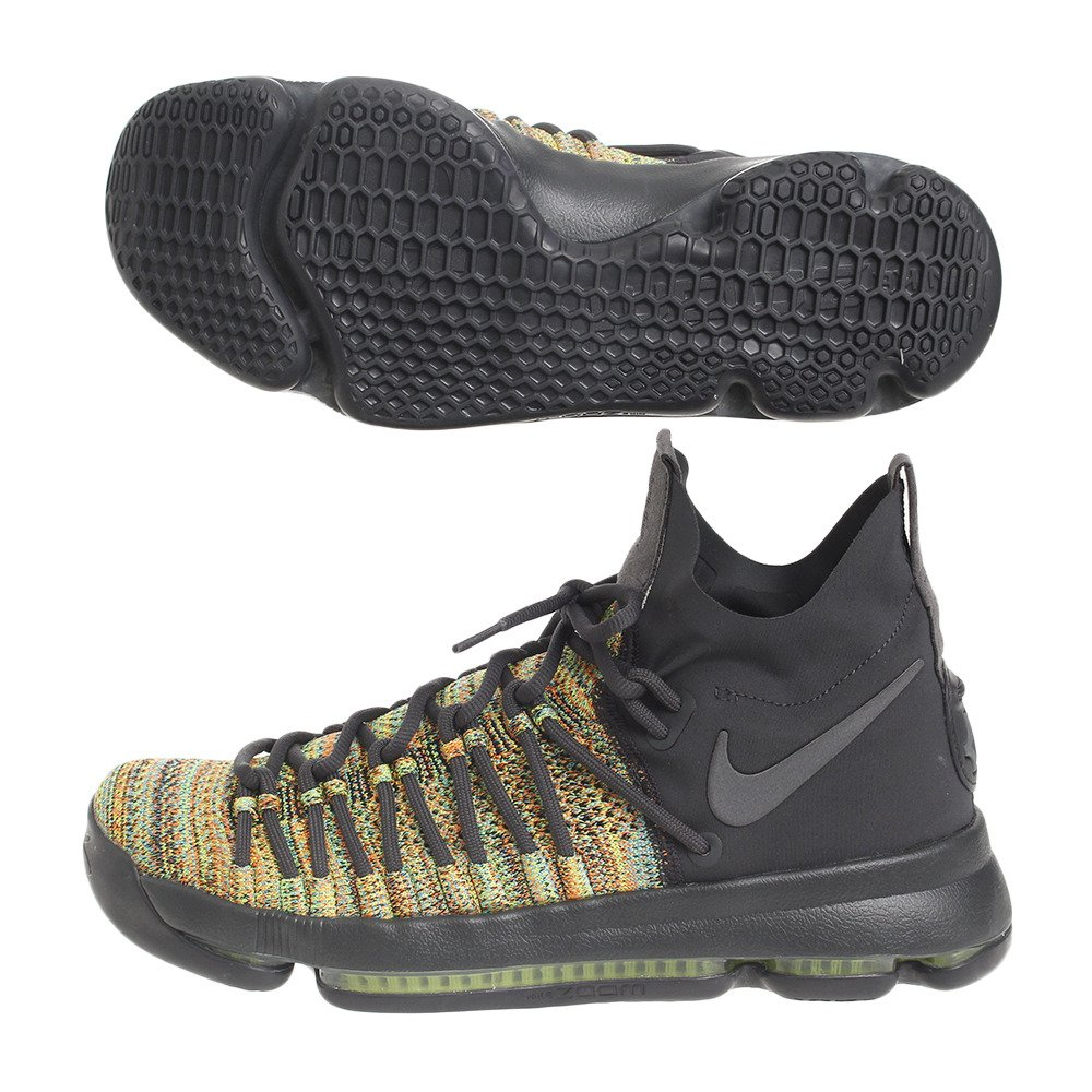 save off 0babc 7a1f3 Amazon.com   Nike Mens Zoom KD 9 Basketball Shoe 11 Men US Multi-Color Black -Wolf-Grey   Basketball