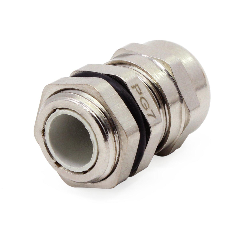 20 pieces Plastic Glands HSeaMall 3.5-6.5mm PG7 Cable Gland Connecteurs de c/âble /étanches C/âble r/églable Gland Joints Pack de 20