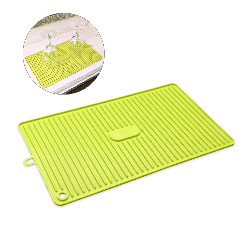 avolare silicona plato secado alfombrilla, antibacteriano, se puede lavar en el lavavajillas., resistente al calor salvamanteles, antideslizante para cocina ...