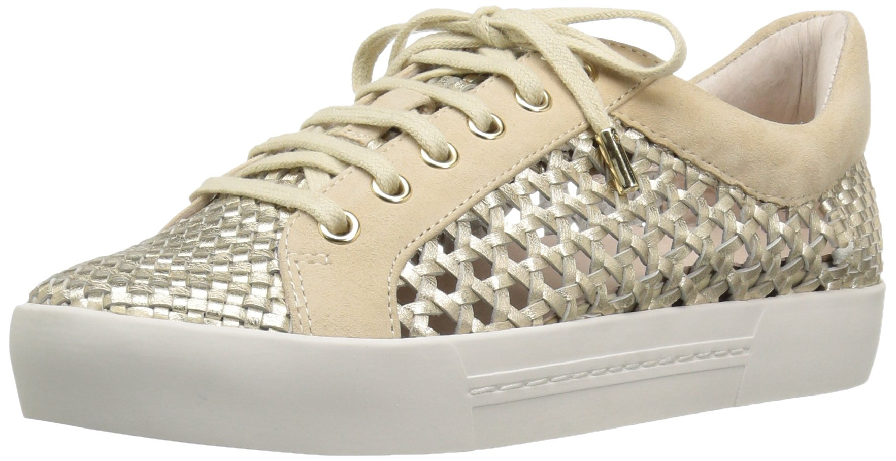 Joie Women's Duha Fashion Sneaker, White/Gold, 36.5 EU/6.5 M US