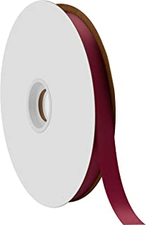 """product image for Offray Berwick 5/8"""" Single Face Satin Ribbon, Burgundy Red, 100 Yds"""