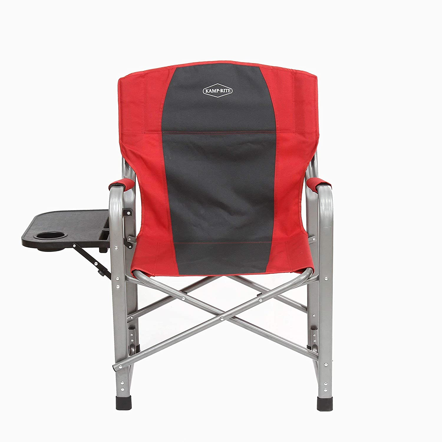 Kamp-Rite Outdoor Camping Tailgating Folding Director s Chair w Side Table