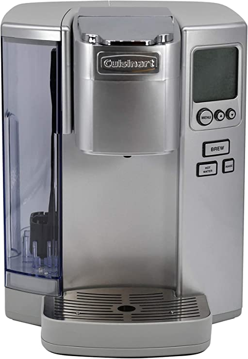 Amazon Com Cuisinart Ss 10 Premium Single Serve Coffeemaker Light Grey Kitchen Dining