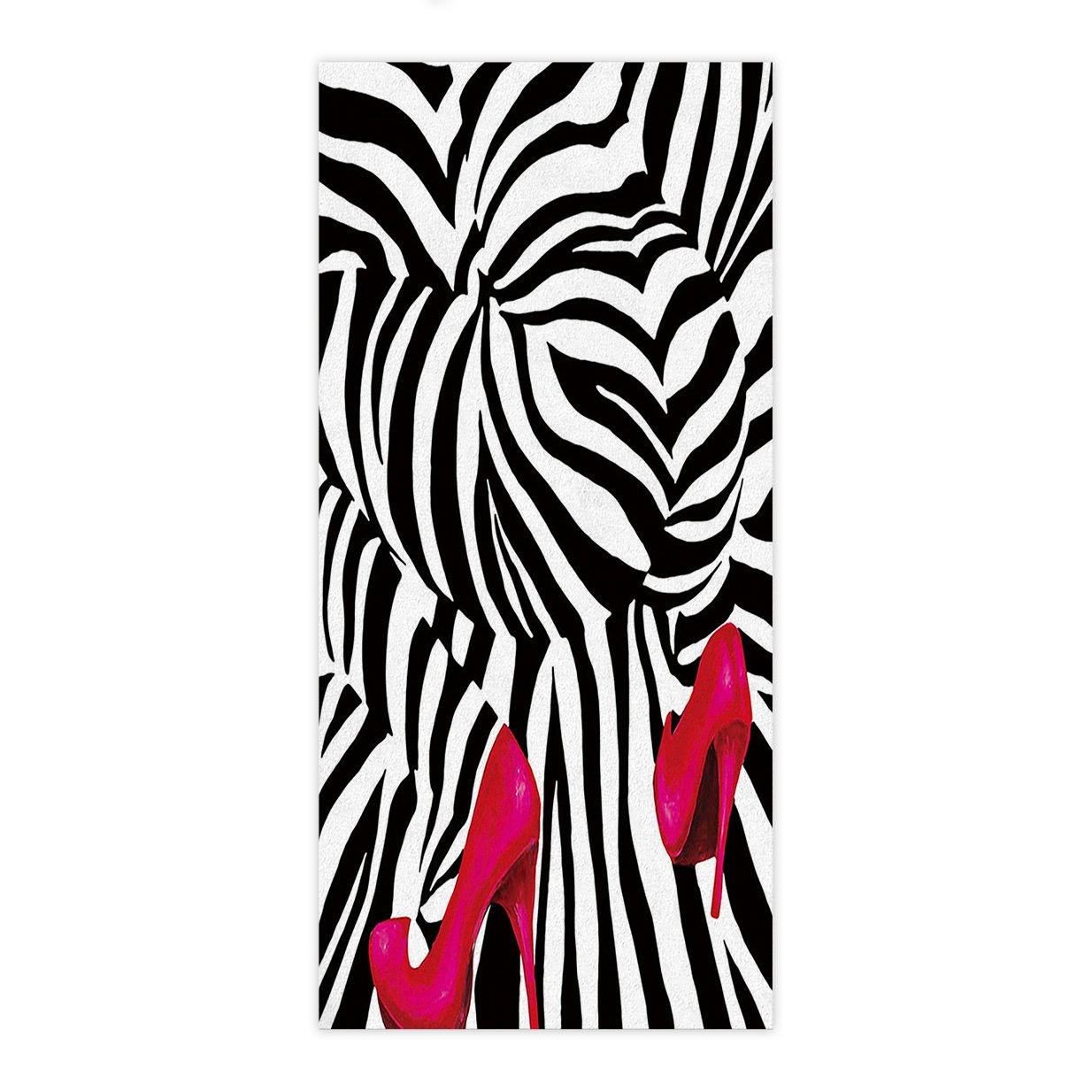 Crystal Emotion Abstract Sexy Zebra Woman Big Ass with Red High-heeled  Shoes Art,Beach Towel Bath Towel Bathroom Shower Towel Bath Wrap For  Body,Gym,Spa ...