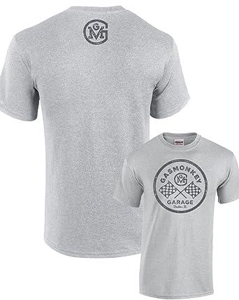 2b43e29ef Chequered Flag Circle Gas Monkey Garage T-Shirt (XL): Amazon.co.uk: Clothing