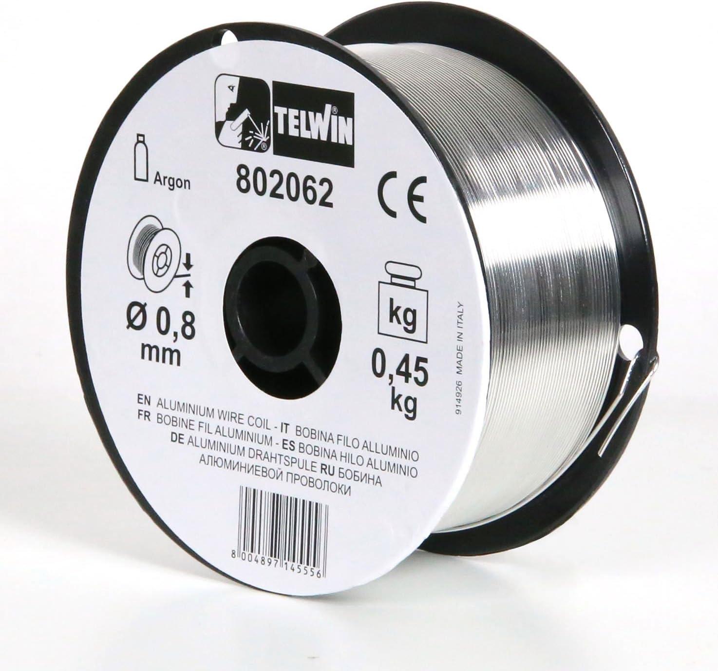 Telwin 802062 - Bobina de hilo aluminio Ø 0,8 (0,45 kg), Gr