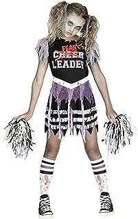 Fun World Zombie Fearleader Costume Cheerleader Costume  sc 1 st  Amazon.com & Amazon.com: Kids Gothic Cheerleader Costume: Clothing