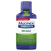Mucinex Fast-Max DM, Max Strength Chest Congestion Relief with Guaifenesin, Adult...