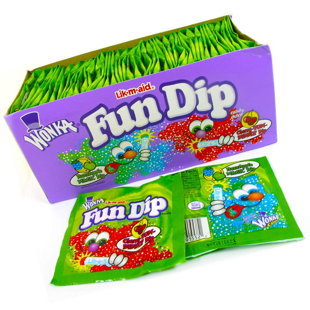 LIK-M-AID Fun Dip Assorted Flavor Party Pack (Update Version) by LIK-M-AID Fun Dip