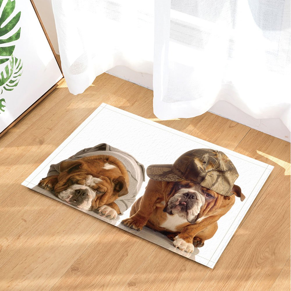 nymb Animal Baño Alfombras, Mascota lindo perro chino Shar Pei con sombrero y ropa, antideslizante Felpudo piso Entryways - Felpudo Alfombrilla de interior ...