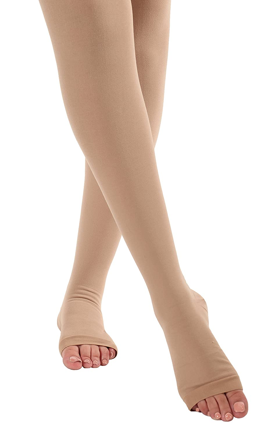 8c6053a8a ... 2XL Opaque Compression Stockings Pantyhose Open Toe - Firm Medical  Graduated Support 20-30mmHg ...