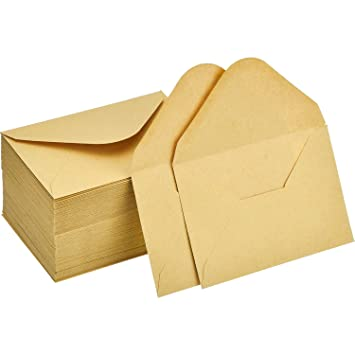 120 Pices Mini Enveloppes Kraft De Cartes Cadeaux Carte Visite