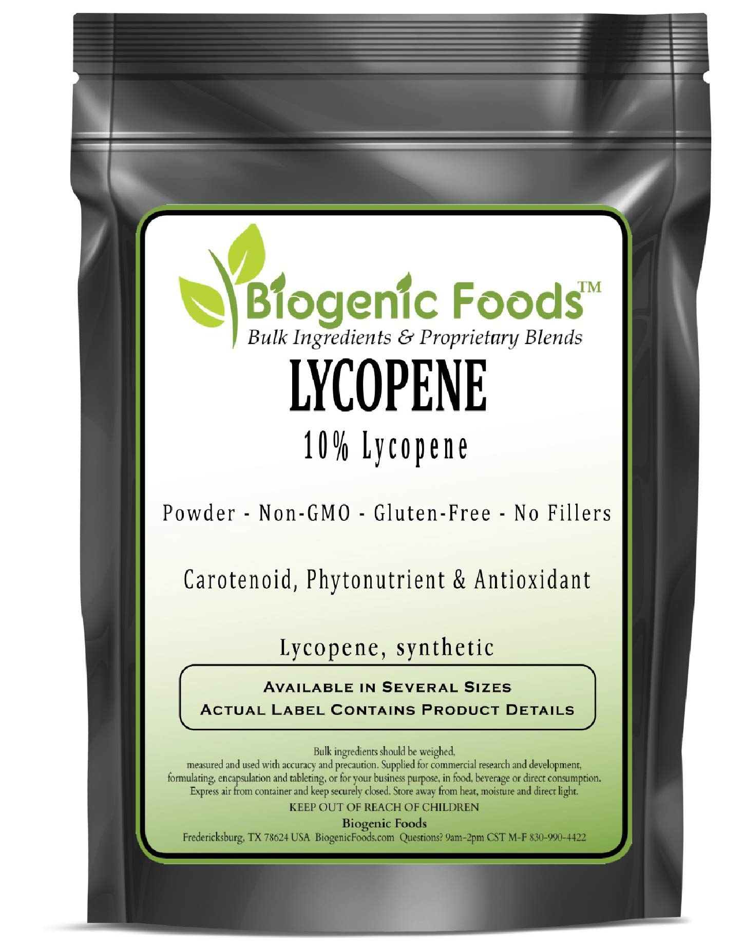 Lycopene - 10% Lycopene Powder Extract (Lycopene, Synthetic), 2 kg by Biogenic Foods