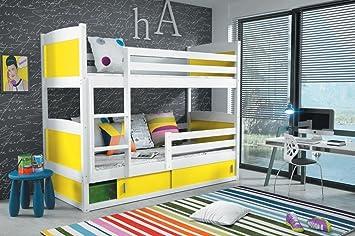 Cama litera infantil RICO 160/80 en color BLANCO más ...