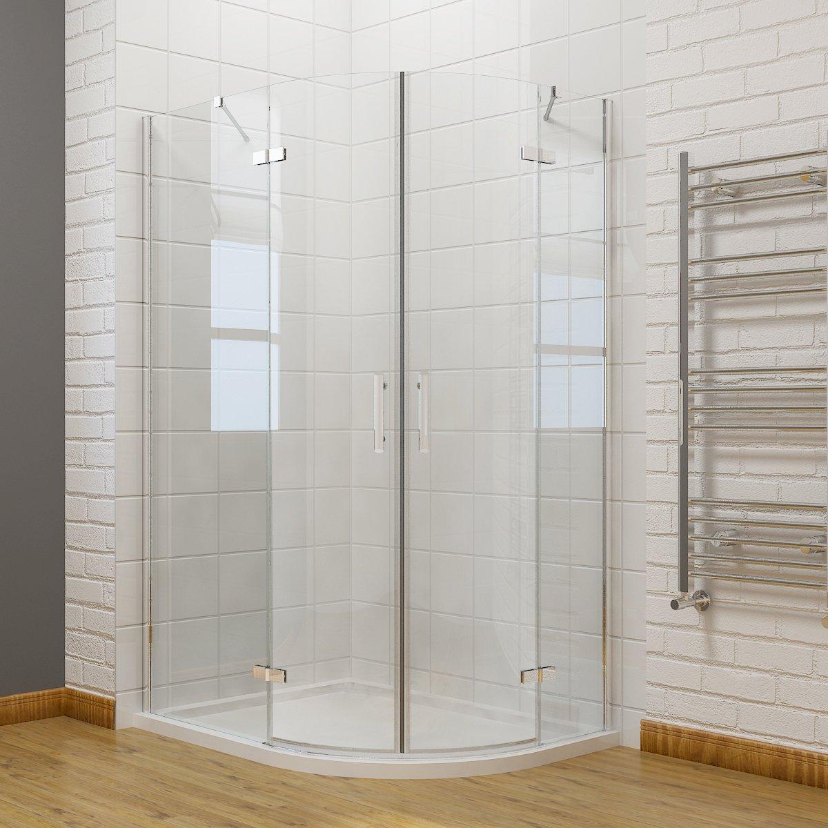 800 x 800mm Quadrant Shower Enclosure Pivot Hinge 6mm Glass Shower Cubicle Door ELEGANT