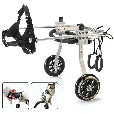 Silla de ruedas para perro, para patas traseras, arnés de ...