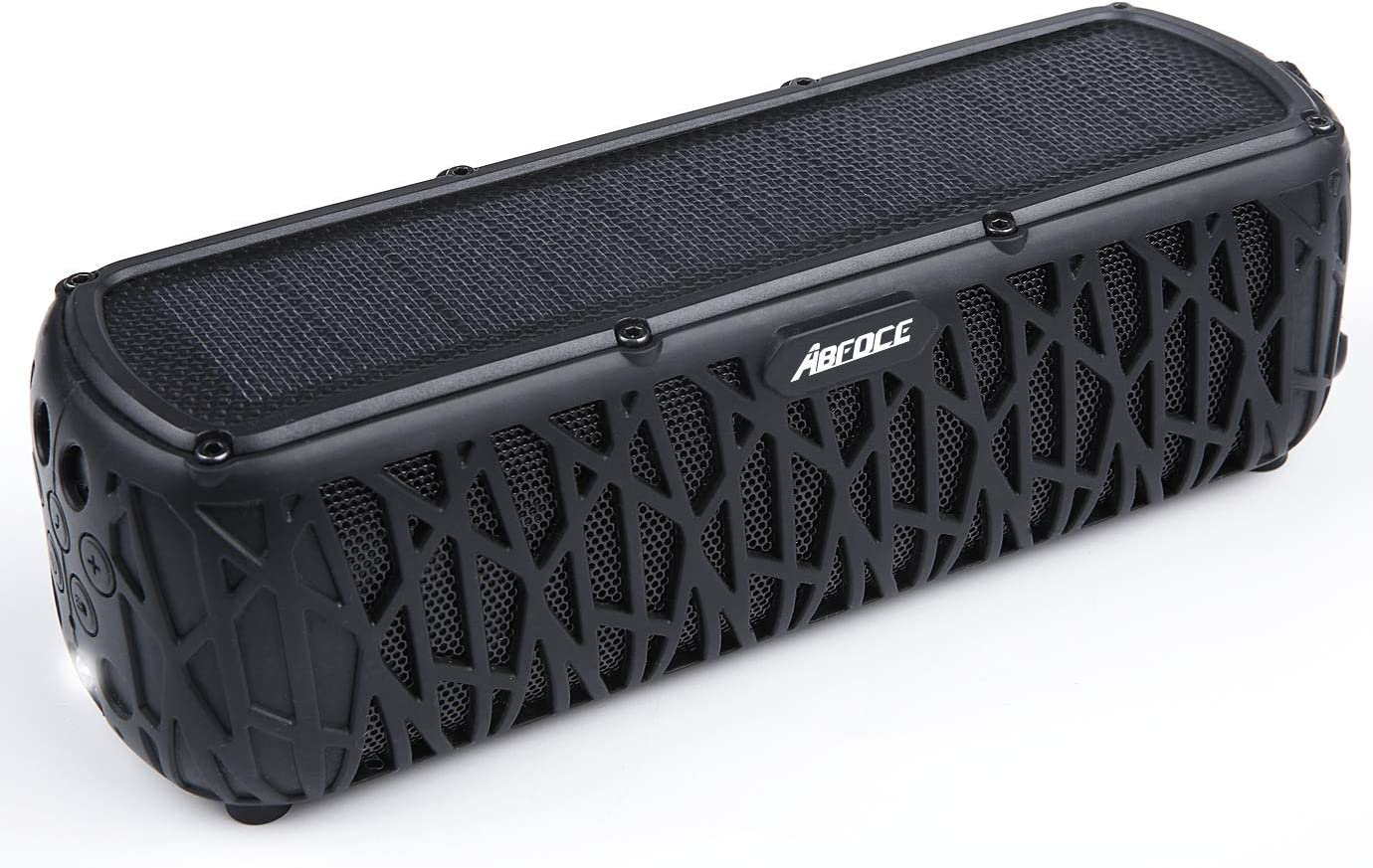 ABFOCE Solar Bluetooth Speaker Portable Outdoor Bluetooth IPX9 Waterproof  Speaker with 9mAh Power Bank,90 Hours Play Time Dual Speaker with Mic,