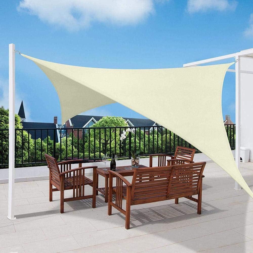 Toldo Vela Sombra Rectángulo Sombra HDPE 95% protección Rayos UV lmpermeable Transpirable para Exteriores Vela de Sombra Patio Fiesta Jardín Shack terrazas Toldo con Libre Cuerda(Beige/2×3 M): Amazon.es: Jardín