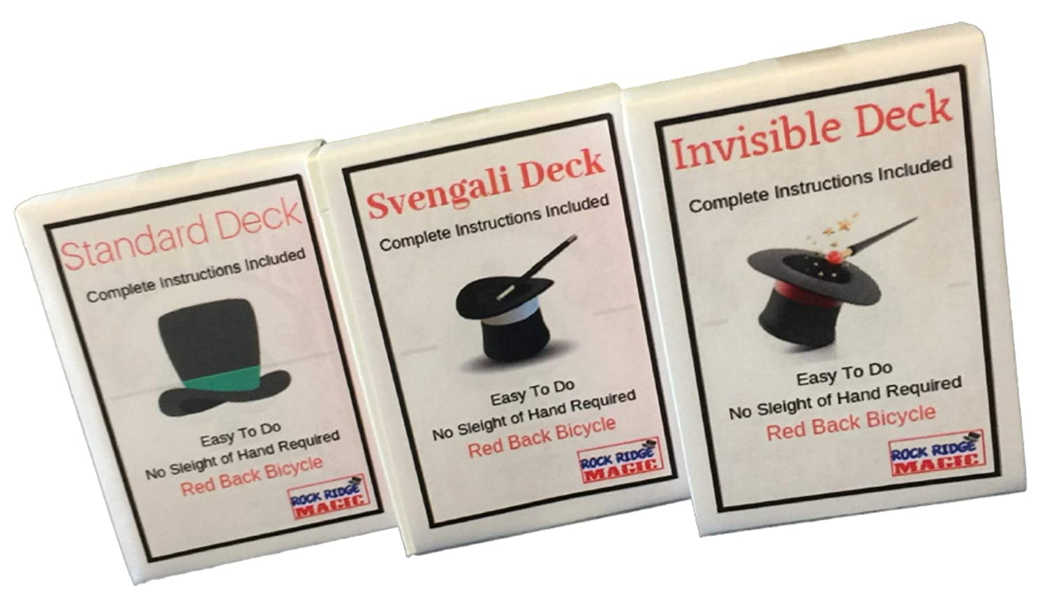 Svengali and a Standard Deck Red Back by Rock Ridge Magic Invisible Masters Bicycle Combo