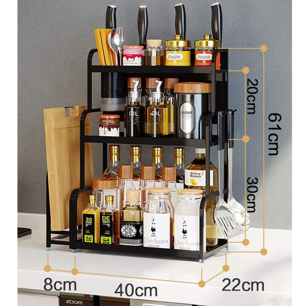 Kitchen shelf HUO Multi-Layer Wall Hanging Knife Holder Kitchen Storage Rack Multifunction (Color : Chopsticks, Size : 40CM) by Kitchen shelf (Image #2)