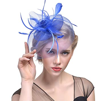 Women Fascinator Hairpin Hat Hair Clips Party Headwear Feather Floral Tiaras New