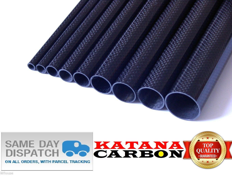 1 x 3k Carbon Fiber Tube OD 10mm x ID 8mm x Length 500mm Roll Wrapped