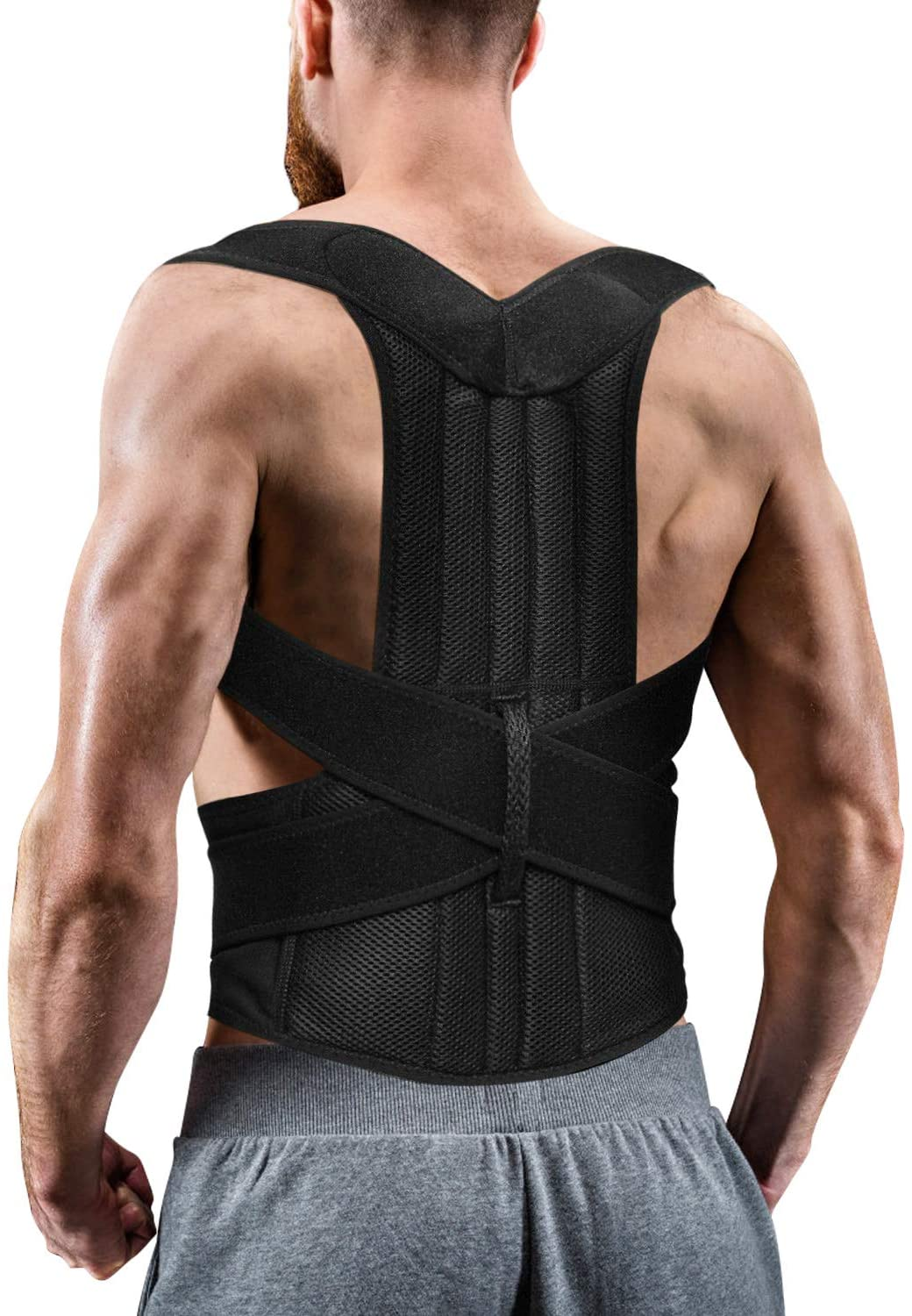 Back Posture Corrector for Women and Men, Back Braces for Upper and Lower Back Pain Relief, Adjustable and Fully Back Support Improve Back Posture