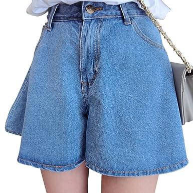 1733cfafa ZhuiKun Mujer Cintura Alta Pantalones Cortos Shorts De Mezclilla Jeans  Shorts Azul Claro XL  Amazon.es  Ropa y accesorios