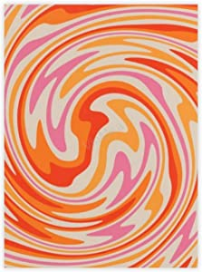 """VinMea Decorative Art Printing Poster 70s Retro Swirl Color Abstract Wall Art Paper Poster Printing Unframed Prints for Wall Decor 16"""" X 24"""""""