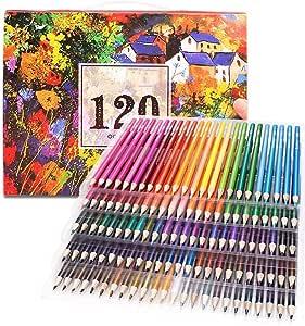Juego de 120 lápices de colores profesionales para la creación de obras de arte, dibujos y bocetos, artistas, con caja de almacenamiento: Amazon.es: Oficina y papelería