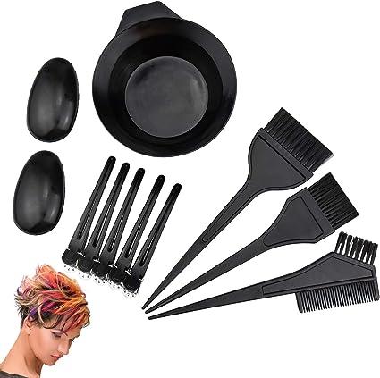 10 pcs peluquería cepillos Bowl Combo Salon pelo color tinte tinte herramienta Set Hair coloring Kit