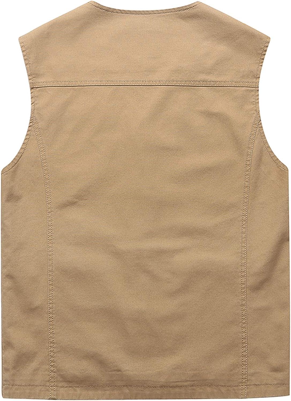 HOWON Mens Cotton Leisure Outdoor Travel Vest