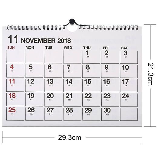 Neu 2018 Dezember 2019 Monatliche Schreibtischunterlage Kalender