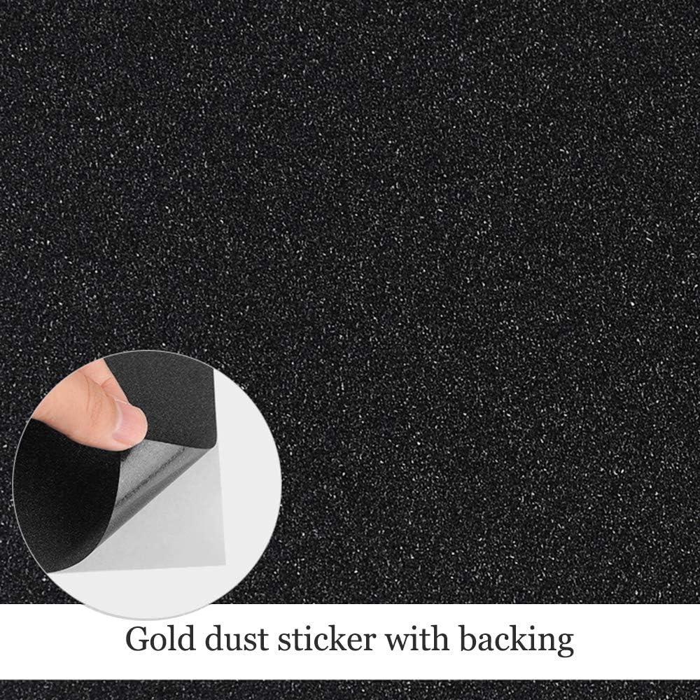XFentech 10 Hojas A4 Pegatinas con purpurina - Suministros de arte con brillo autoadhesivo para manualidades Scrapbooking Decoupage 21 * 29.7cm (colores negros): Amazon.es: Hogar