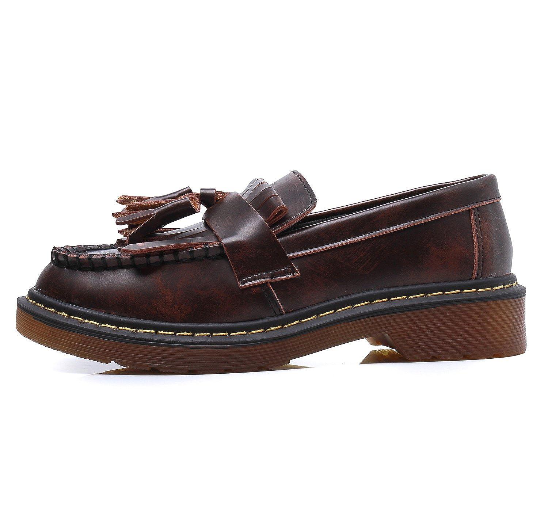 Smilun Chaussures Femme Loafers Mocassin Frange Bateau Basses: Amazon.fr:  Chaussures et Sacs