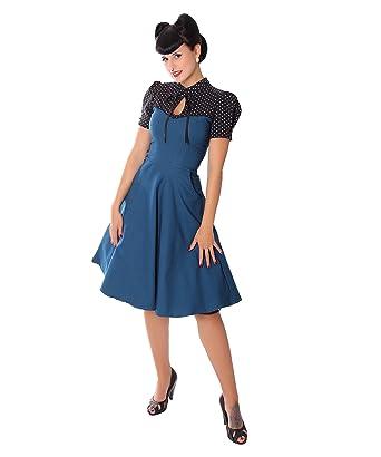 Sugarshock Damen Kleid Neyla Polka Dots Rockabilly Kleid Größexxl