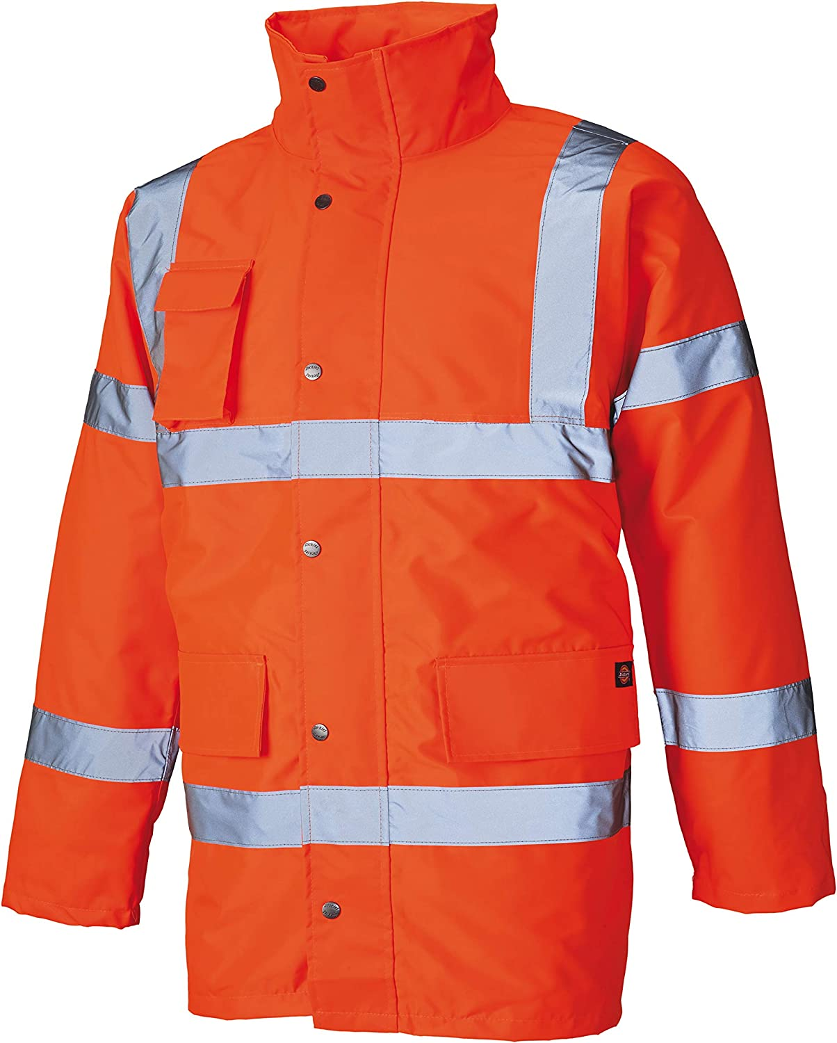 Dickies High Visibilty Hi-Vis Yellow Safety Motorway Jacket Medium Chest 40-42