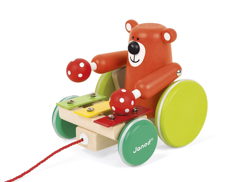 Janod Zigolos Xylo Bear Pull Along Baby Toy